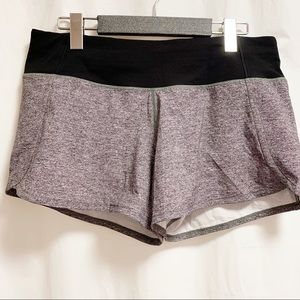 "Lululemon Run Times Short 4"" Heather Grey & Black"